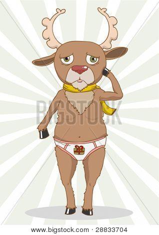 confused bashful reindeer