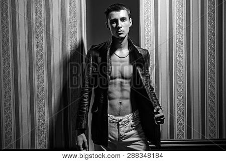 Confident And Successful. Male Fashion And Style. Sexy Muscular Man. Fashion Portrait Of Man. Macho