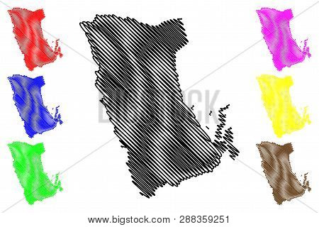 Phatthalung Province (kingdom Of Thailand, Siam, Provinces Of Thailand) Map Vector Illustration, Scr