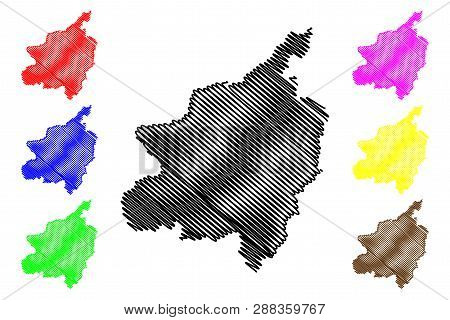 Phitsanulok Province (kingdom Of Thailand, Siam, Provinces Of Thailand) Map Vector Illustration, Scr