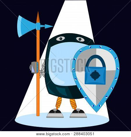 Security Software Protect Data In Computer And Mobile System Applications. Smartphone As A Guard Wit
