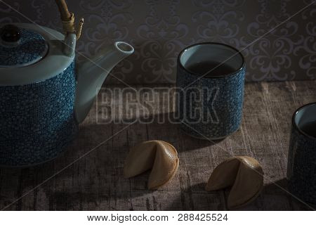 Tea And Two Unopened Fortune Cookies, Your Destiny Is Not Yet Decided.