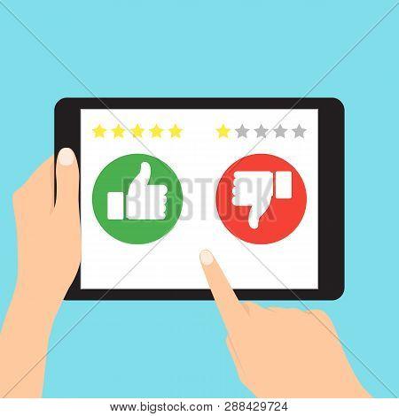 Like And Dislike, Feedback. Customer Excellent Review And Feedback. Customer Review Communication Ve