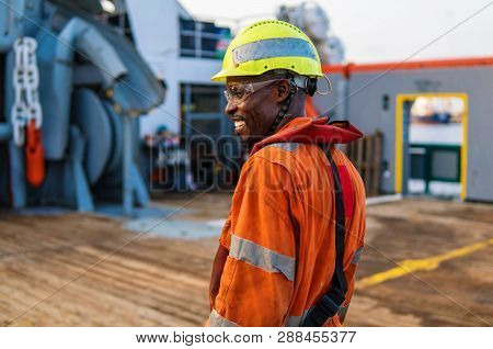 Head Of Ab Able Seamen - Bosun On Deck Of Offshore Vessel Or Ship