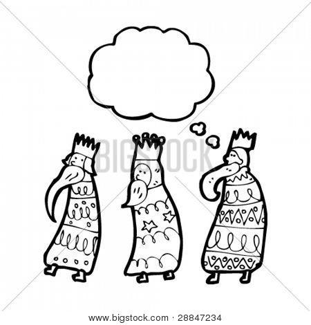 3 wise men cartoon
