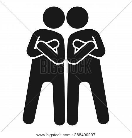 Brotherhood Icon. Simple Illustration Of Brotherhood Icon For Web Design Isolated On White Backgroun