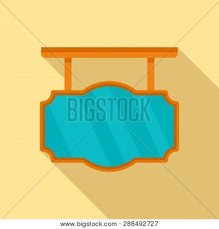 Retro City Welcome Banner Icon. Flat Illustration Of Retro City Welcome Banner Icon For Web Design