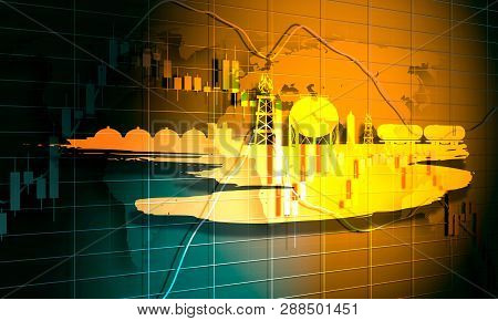 Forex Candlestick Pattern. Trading Chart Concept. Financial Market Chart. Energy And Power Icons Set