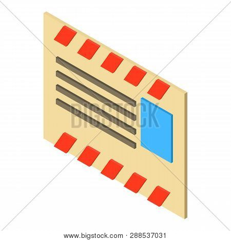 Old Post Envelope Icon. Isometric Illustration Of Old Post Envelope Icon For Web