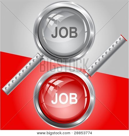 Job. Raster magnifying glass. Vector version is in my portfolio.