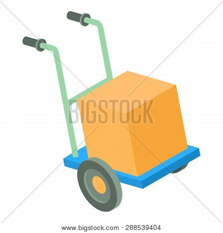 Post Cart Icon. Isometric Illustration Of Post Cart Icon For Web
