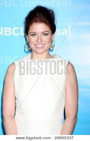 LOS ANGELES - JAN 6:  Debra Messing arrives at the NBC Universal All-Star Winter TCA Party at The Athenauem on January 6, 2012 in Pasadena, CA