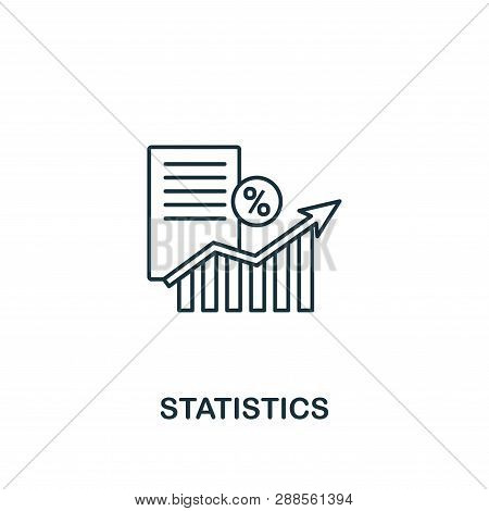 Statistics Icon Thin Line Style. Symbol From Online Marketing Icons Collection. Outline Statistics I
