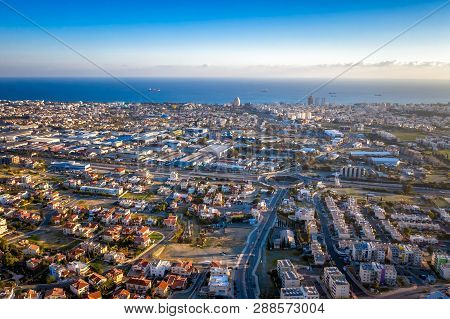 Aerial View Of Limassol Cityscape. Limassol, Cyprus