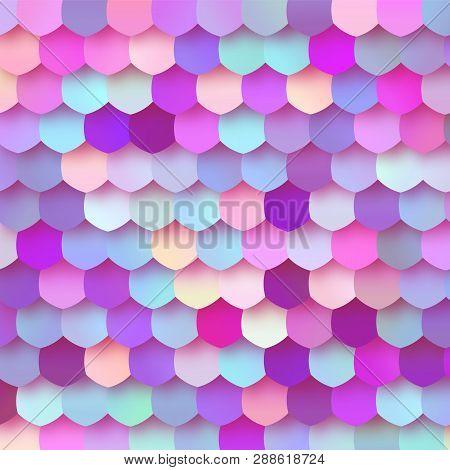 Pastel Colorful Papercut Mosaic Trendy Design BG poster