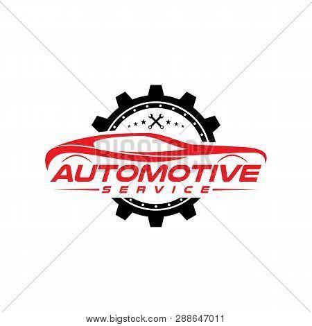 Car Logo Design, Auto Car Logo, Simple Logo With Red Color, Vector Icons.