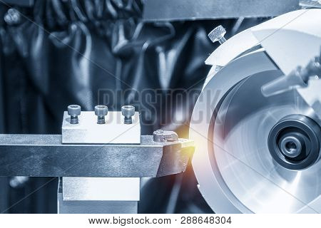 The Tool Grinder Machine With Lathe Tool . The Carbide Cutting Tool Regrinding Process