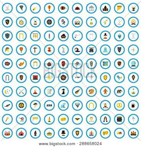 100 Fable Icons Set In Flat Style For Any Design Vector Illustration