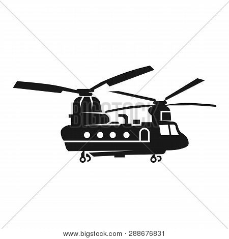 Chinook Helicopter Icon. Simple Illustration Of Chinook Helicopter Vector Icon For Web Design Isolat