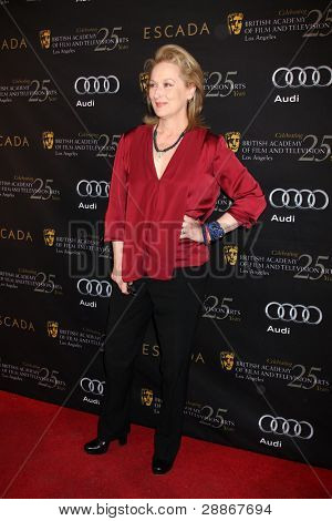 LOS ANGELES - JAN 14:  Meryl Streep arrives at  the BAFTA Award Season Tea Party 2012 at Four Seaons Hotel on January 14, 2012 in Beverly Hills, CA