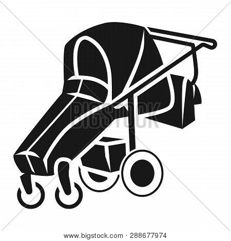 Foldable Baby Stroller Icon. Simple Illustration Of Foldable Baby Stroller Vector Icon For Web Desig