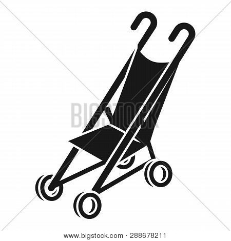 Foldable Mini Stroller Icon. Simple Illustration Of Foldable Mini Stroller Vector Icon For Web Desig
