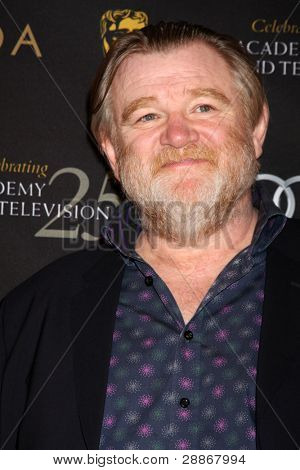 LOS ANGELES - JAN 14:  Brendan Gleeson arrives at  the BAFTA Award Season Tea Party 2012 at Four Seaons Hotel on January 14, 2012 in Beverly Hills, CA
