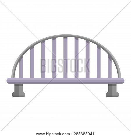 Transport Bridge Icon. Cartoon Of Transport Bridge Vector Icon For Web Design Isolated On White Back