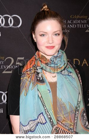 LOS ANGELES - JAN 14:  Holliday Grainger arrives at  the BAFTA Award Season Tea Party 2012 at Four Seaons Hotel on January 14, 2012 in Beverly Hills, CA