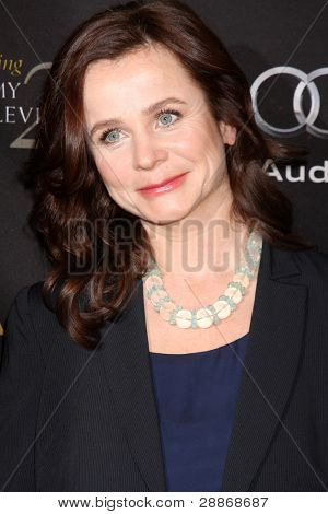LOS ANGELES - JAN 14:  Emily Watson arrives at  the BAFTA Award Season Tea Party 2012 at Four Seaons Hotel on January 14, 2012 in Beverly Hills, CA