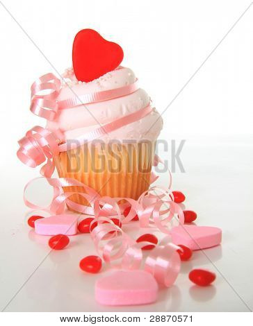 Valentine's day cupcake. Also available in horizontal.