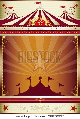 wonderful circus background. An old style circus poster for you.