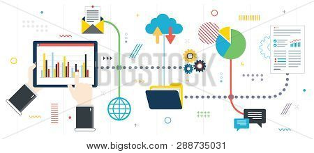 Business Growth And Investment Data. Financial Investment, Analytics With Growth Report And Successf