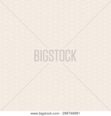 Classic Asian Golden And White Squama Seamless Pattern For Textile Industry, Fabric Design. Chinese