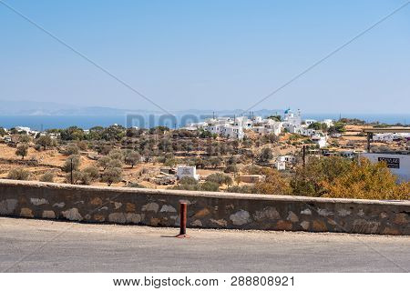 Sifnos, Greece - September 11, 2018: View From Central Street Of Apollonia, The Capital Of Sifnos. C