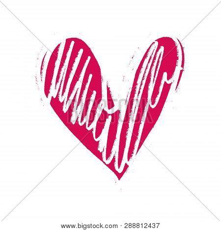 Heart Shape Love Icon, Valentines Day Postcard Element