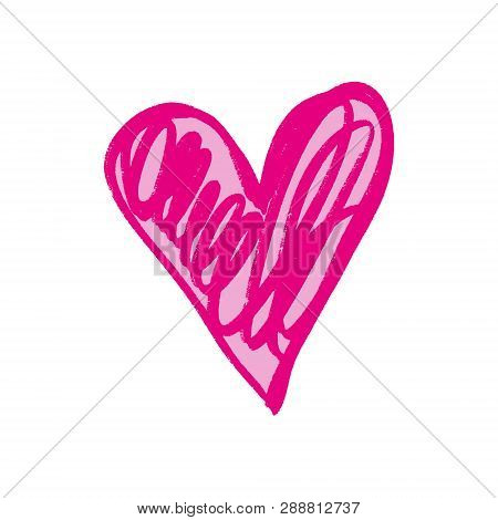 Heart Shape Love Icon, Valentines Day Element