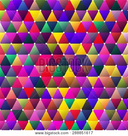 Bright Color Saturated Moody Triangle BG Design poster