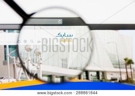 Los Angeles, California, Usa - 10 March 2019: Illustrative Editorial, Saudi Basic Industries Website