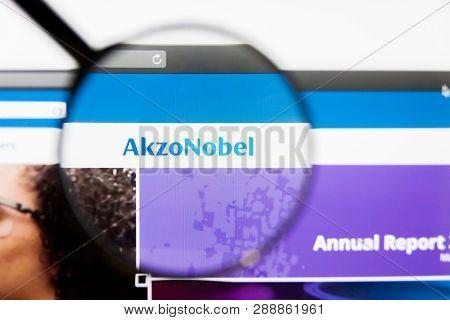 Los Angeles, California, Usa - 10 March 2019: Illustrative Editorial, Akzo Nobel Website Homepage. A