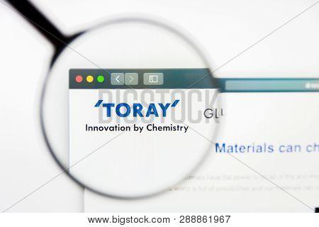 Los Angeles, California, Usa - 10 March 2019: Illustrative Editorial, Toray Industries Website Homep
