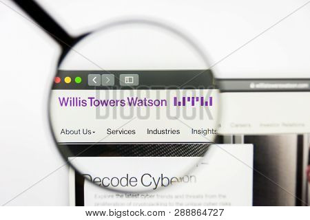 Los Angeles, California, Usa - 10 March 2019: Illustrative Editorial, Willis Towers Watson Website H