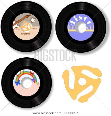 45 Rpm Record Labels Spindle