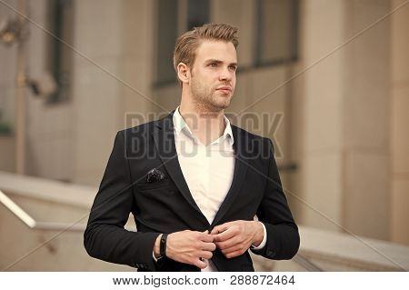 Uniform Business Environments Decorum Professionalism Woven Culture Organization. Man Formal Suit Bu