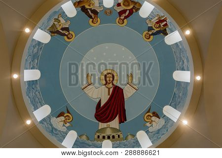 Campbell, California - March 10, 2019:  The Dome Of St. George And St. Joseph Coptic Orthodox Church