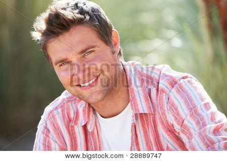 Portrait man outdoors