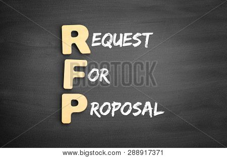 Wooden Alphabets Building The Word Rfp - Request For Proposal Acronym On Blackboard