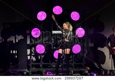 UNIONDALE, NY - MAR 07: Singer Kelsea Ballerini performs in concert at NYCB Live on March 7, 2019 in Uniondale, New York.