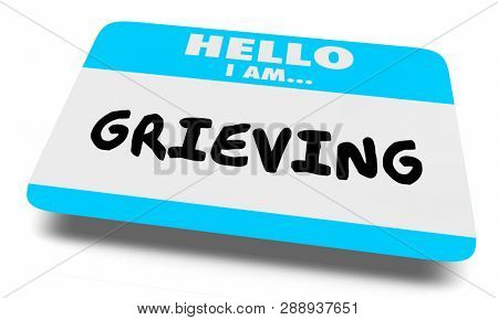 Grieving Process Grief Name Tag 3d Illustration