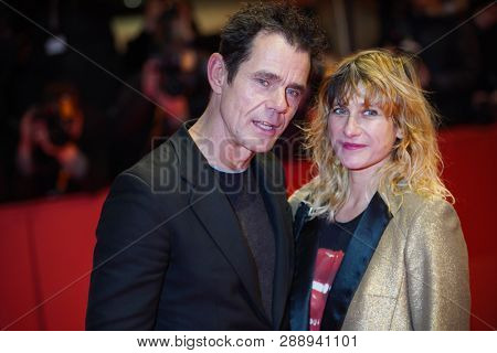 Marie Steinmann and Tom Tykwer attend the opening ceremony and  during the 69th Berlinale International Film Festival Berlin at Berlinale Palace on  February 7, 2019 in Berlin, Germany.